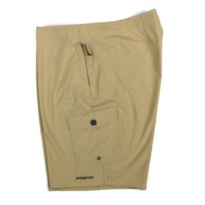 Patagonia Wavefarer Board Shorts Tan Size 34